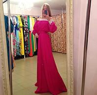 Платье трикотажное в пол с ажуром (розница+50грн)