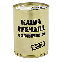 Тушенка из говядины с гречневой кашей, консерва (340г), ж/б