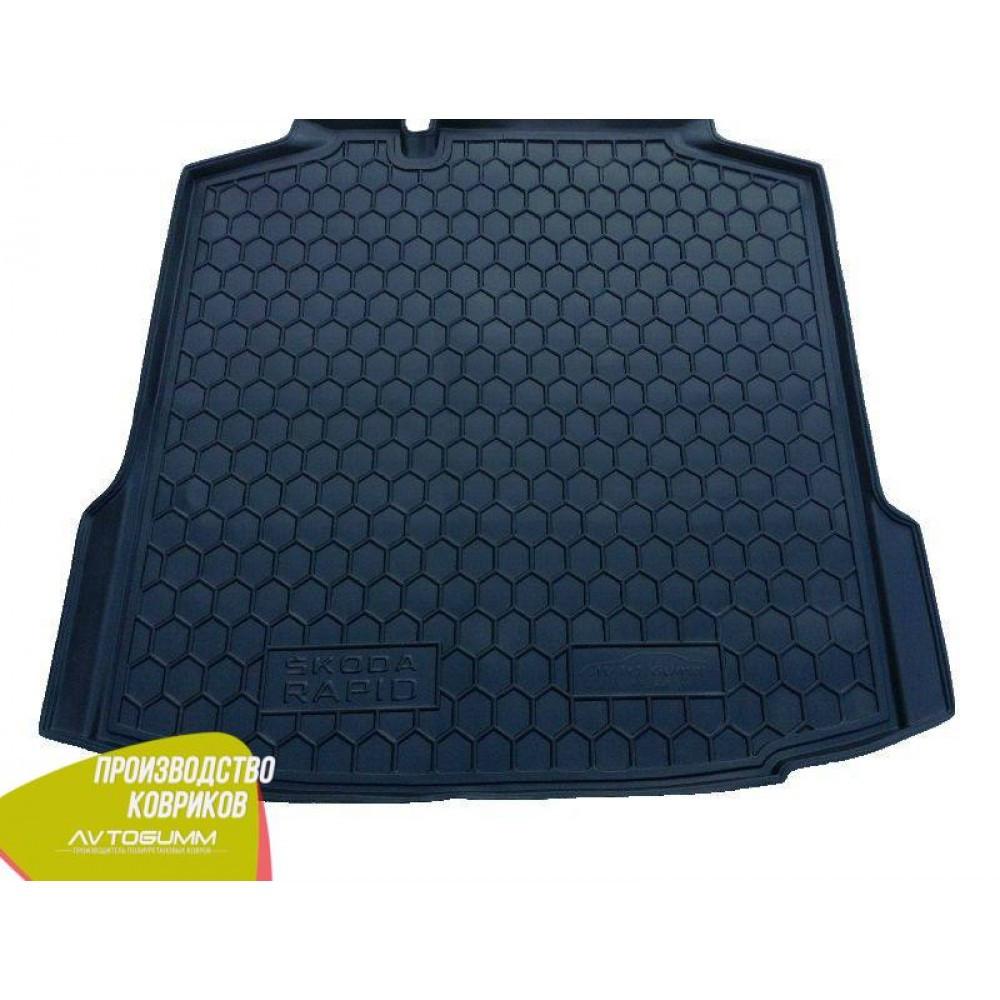 Авто килимок в багажник Skoda Rapid 2013 - Liftback (Avto-Gumm) Автогум