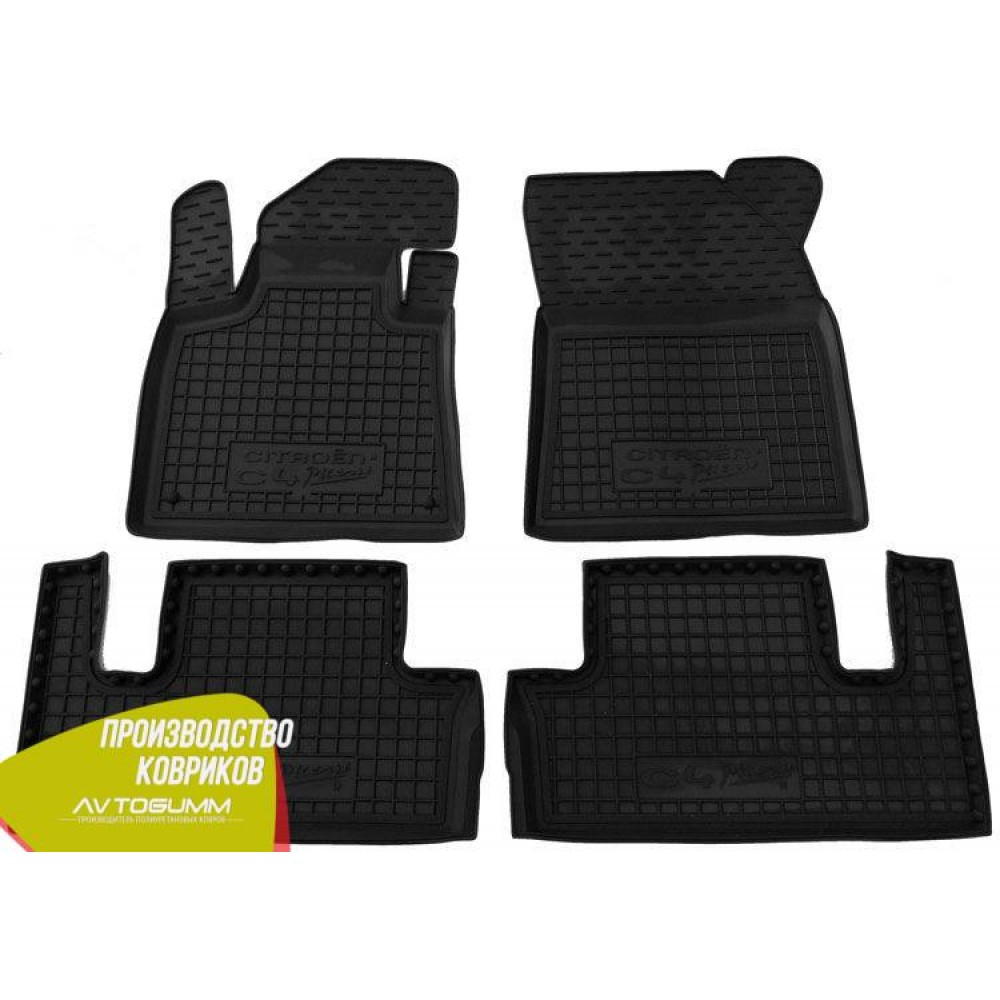 Авто килимки в салон Citroen C4 Picasso 2014- (Avto-Gumm) Автогум