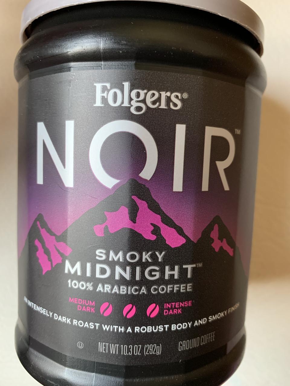 Кофе молотый Folgers Noir Smoky Midnight