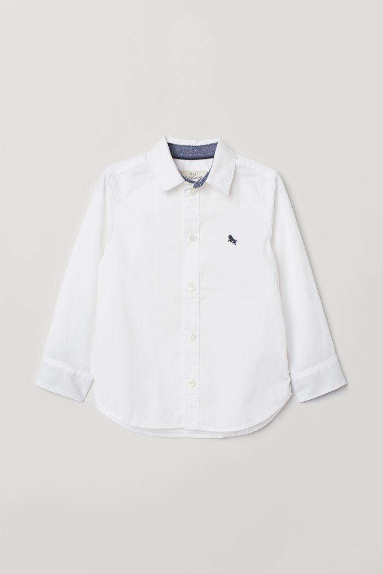 Стильная белая рубашка для мальчика