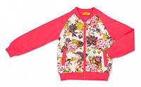 Куртка для девочки Flowers, Danaya, розовая (110 р.) (F3128F_110р)