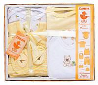 Подарочный комплект, 7 предметов, Danaya, жёлтый (0-3 мес.) (K12-B0119_жов)