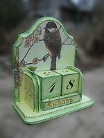 Вечный календарь Воробушек ручной работы