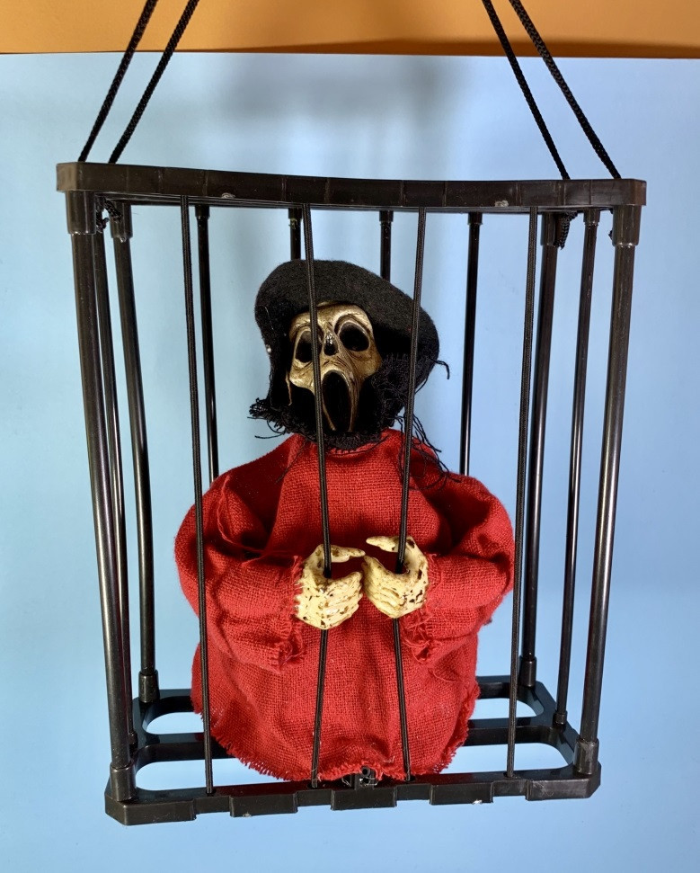 Нежить в клетке декор на Хэллоуин Halloween