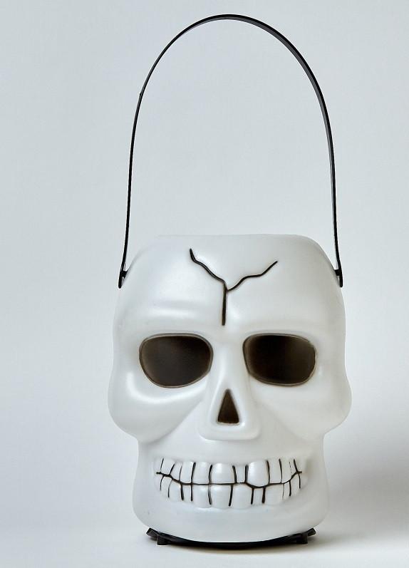 Череп светящийся и смеющийся маленький на Хэллоуин Halloween 18 см