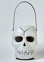 Череп светящийся и смеющийся маленький на Хэллоуин Halloween 18 см, фото 1