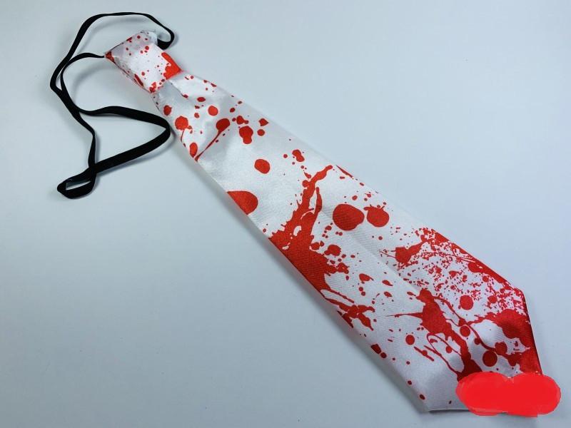Галстук с кровью светящийся Хэллоуин 32 см