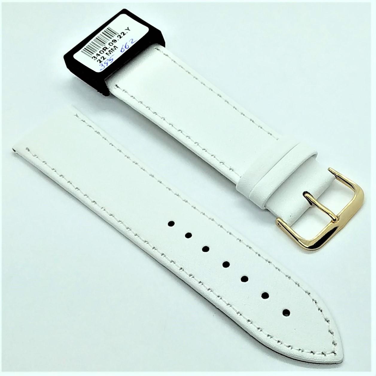 22 мм Кожаный Ремешок для часов CONDOR 340.22.09 Белый Ремешок на часы из Натуральной кожи