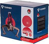 Мяч массажный Torneo, 65 см, Красный, фото 2