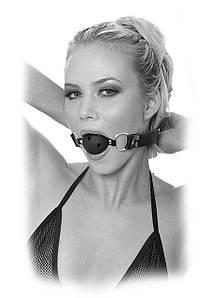 БДСМ кляп в рот с шариком черный