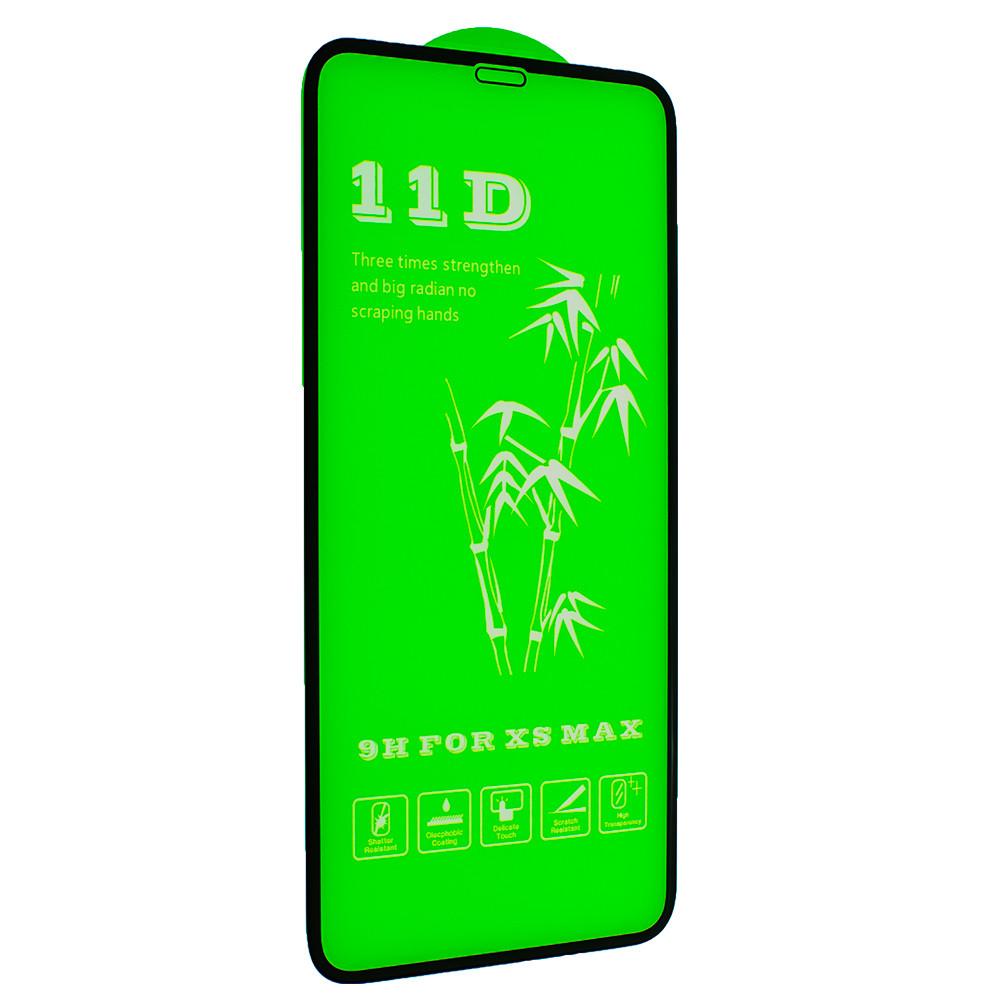 Защитное стекло 11D Glass 0.30 mm Full Glue для Apple iPhone 11 Pro Max/ iPhone XS Max Black (00007090)