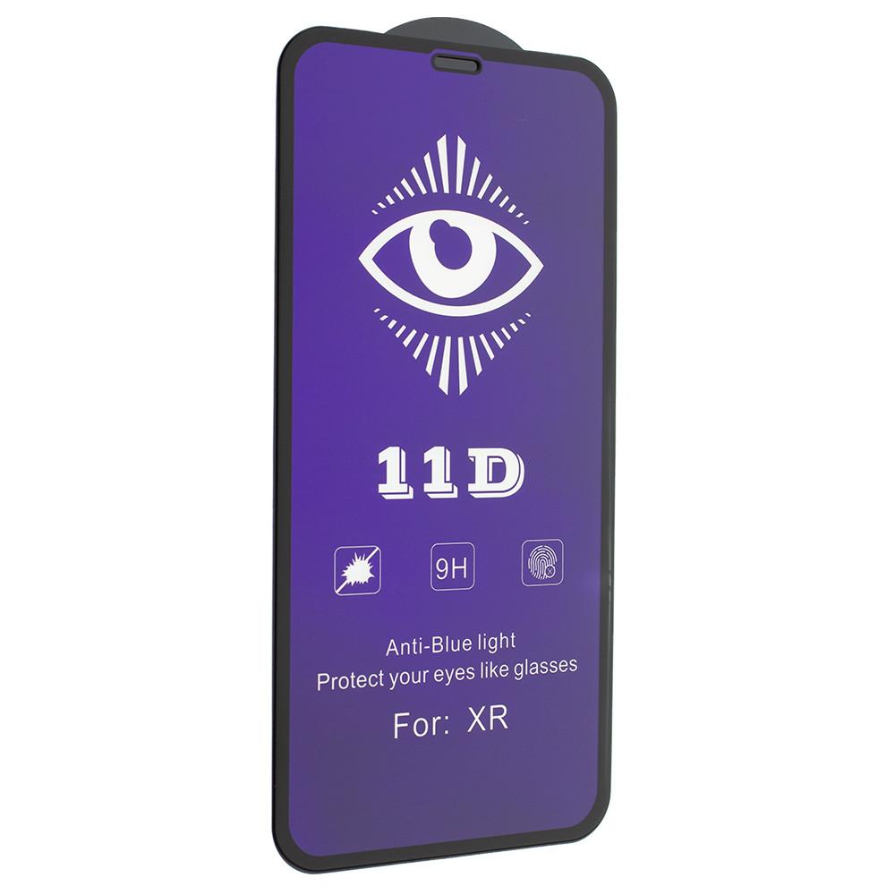 Защитное стекло 11D Anti Blue Glass 0.20 mm для Apple iPhone 11/ iPhone XR Black (00007123)