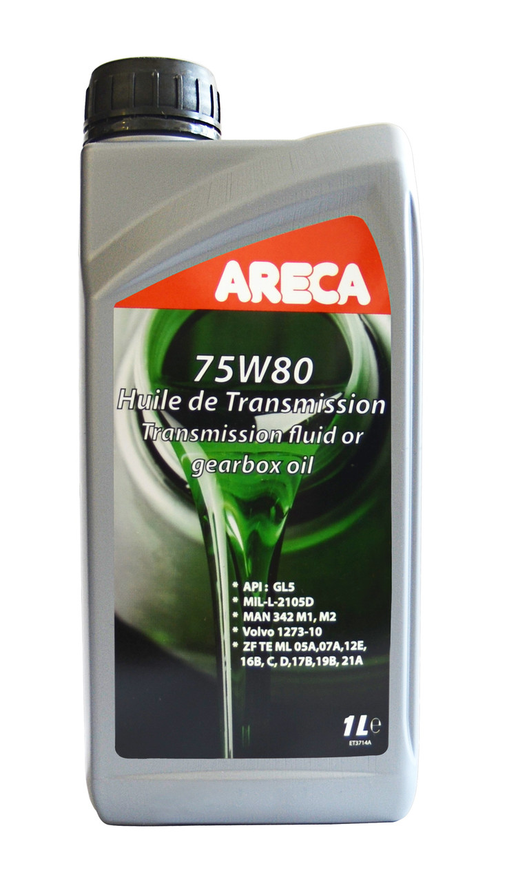 Полусинтетическое трансмиссионное масло Areca 75w-80