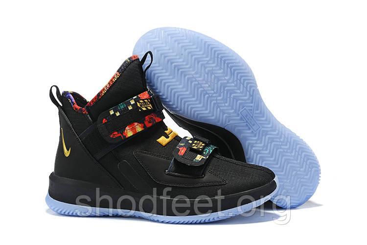 Мужские баскетбольные кроссовки Найк LeBron Soldier 13 'All Star' Black/Multi-Color