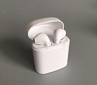 Беспроводные наушники Аирподс в кейсе Power Bank Bluetooth гарнитура HBQ i7S TWS белый