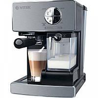 ✅ Рожковая кофеварка Vitek VT-1516 (подогрев чашек, индикатор уровня воды, мощность 1470 Вт) | Гарантия 12 мес