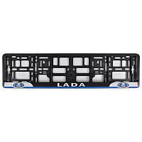 Рамка номера CarLife для Lada черный пластик (NH122)
