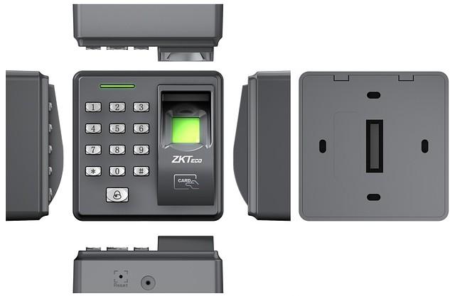 Дизайн биометрического контроллера доступа ZKTeco X7