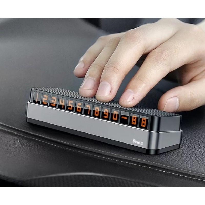 Автотабличка временной парковки Baseus Moonlight Box Series Temporary Parking Number Plate gray (ACNUM-B0G)
