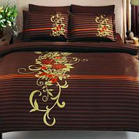TAC евро комплект  постельного белья saten Delux Siena kahve