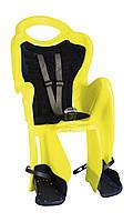 Сиденье задн. Bellelli Mr Fox Standart B-fix до 22кг, неоново-жёлтое с темно-синей подкладкой (Hi Vision) (SAD-09-37)