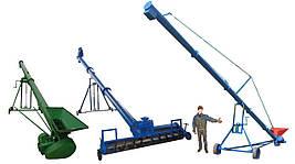 Шнековый транспортер, передвижной шнековый конвейер, транспортер шнековый на колесах