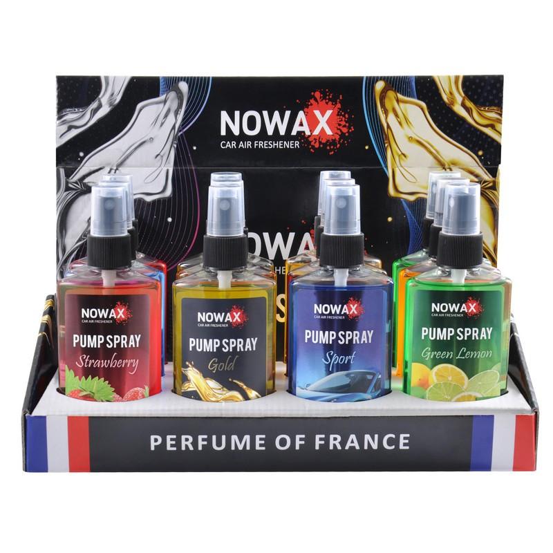 Ароматизатор Nowax Pump Spray 75 мл Микс 1 12 шт в упаковке (NX07530)
