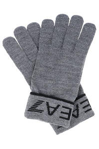 Перчатки мужские EA7 EMPORIO ARMANI GREY/BLACK
