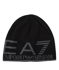 Шапка мужская EA7 EMPORIO ARMANI BLACK/GREY