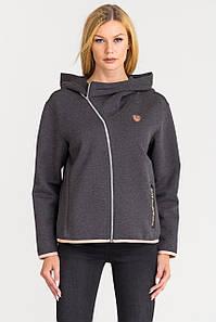 Спортивная кофта женская Sports jacket Emporio Armani EA7 Train Logo CARBON MELANGE