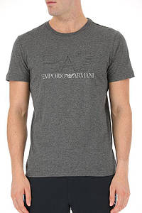 Футболка мужская Emporio Armani Clothing for Men DARK GREY MEL