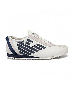 Кроссовки мужские Sneakers EA7 EMPORIO ARMANI OFF WHITE+NAVY
