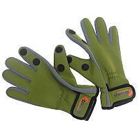 Перчатки водонепроницаемые Tramp TRGB-002 (р.S), зеленые