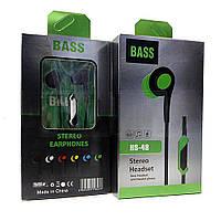 Вакуумные наушники  с микрофоном Bass HS-48