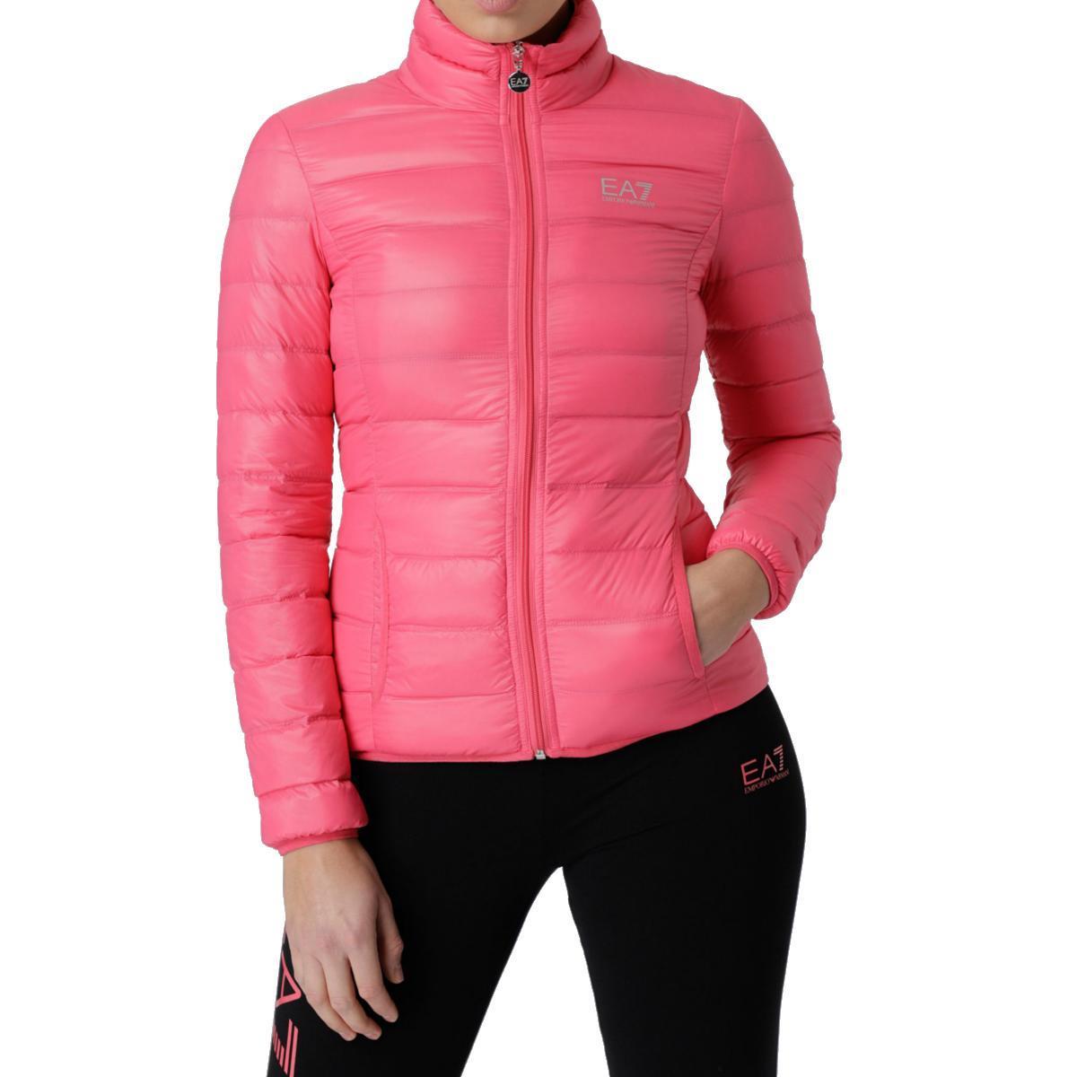 Курта пуховик женская EA7 EMPORIO ARMANI jacket BRIGHT ROSE