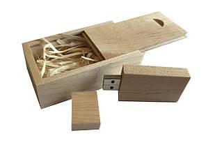 Флешка SUNROZ Wooden USB Flash Drive деревяный флеш накопитель в коробке 32 Gb USB 3.0 Светло-коричневый (SUN0821)