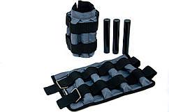 Утяжелительные манжети CROSS регульовані 2 кг, під вантажі 2х2 кг, 500 гр - 8 шт