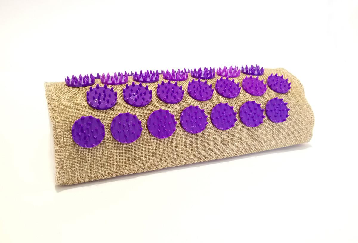 Полувалик массажно-аккупунктурный Lounge 24 х 11х 6 см Фиолетовые фишки