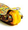 Дитячий самокат MAXI Карусель жовтий, світяться колеса, фото 3