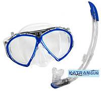 Набор для снорклинга маска AquaLung Favola + трубка Zephyr