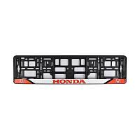Рамка номера CarLife для Honda черный пластик (NH091)