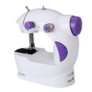 Мини швейная машинка 4 в 1 с педалью FHSM 201 Белый (45598)