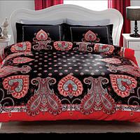 TAC евро комплект  постельного белья сатин Delux Farrah blask