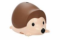 Детский горшок QCBABY ЁЖИК коричневый (QC9903brown)
