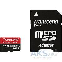 Карта памяти Transcend 128GB microSDXC Class 10 UHS-1 (R45MB/s) + SD Adapter (TS128GUSDU1)