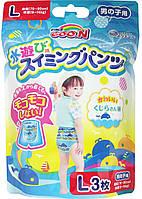 Трусики-подгузники для плавания GOO.N для мальчиков 9-14 кг, ростом 70-90 см (размер L, 3 шт) (853466)