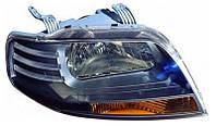 Фара правая Chevrolet Aveo (T200) 2003 - 2008, механ., темный корпус, (FPS, FP 1703 R02-P) OE 96408151 - шт.