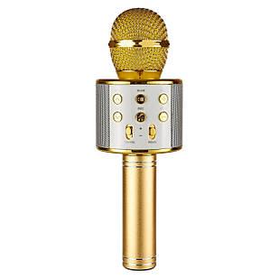 Беспроводной караоке микрофон Wster WS-858 Золотистый (8-WS-858)